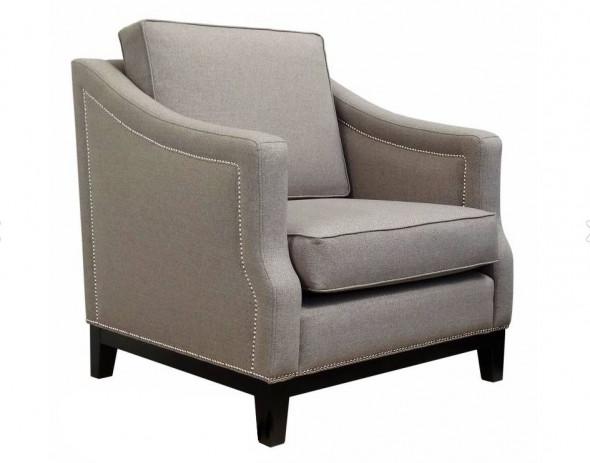 Fotel tapicerowany ASHTON - Kolekcja Chesterfield Materiał Grupa B