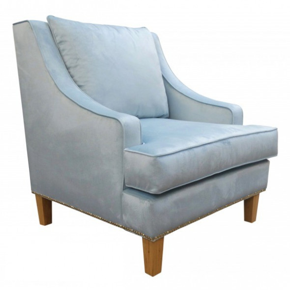 Fotel tapicerowany TELFORD - Kolekcja Chesterfield Materiał Grupa B
