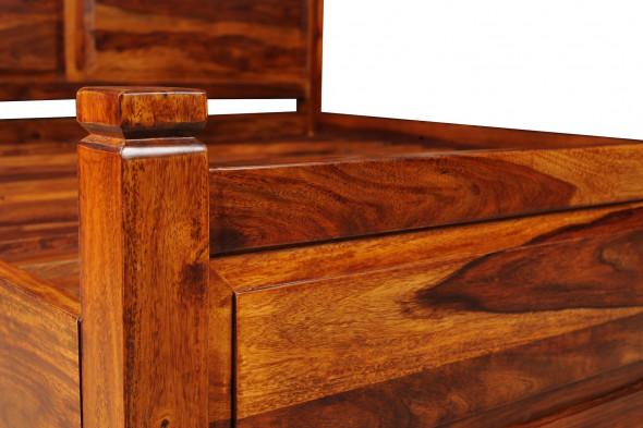 Klasyczne  łóżko z litego drewna COL-24 180X200 - Kolekcja COLONIAL