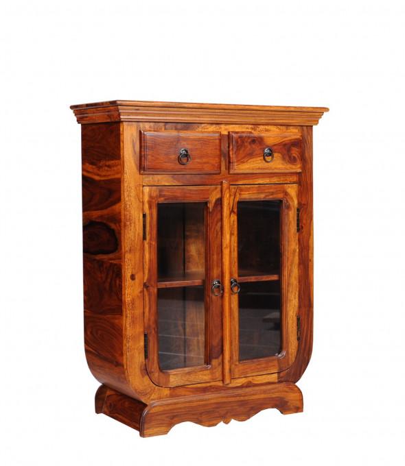 Kolonialna witrynka  z litego drewna COL-50 - Kolekcja Colonial