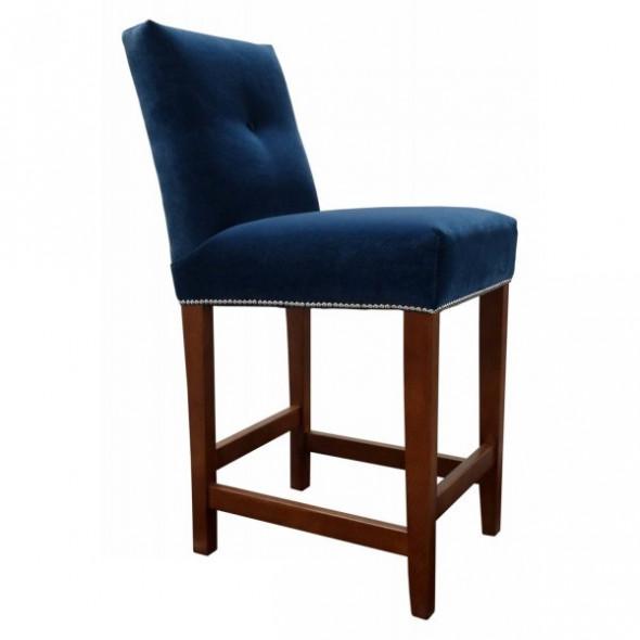 Krzesło barowe  tapicerowane KINGTON  - Kolekcja Chesterfield