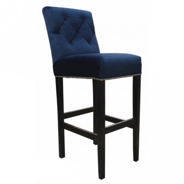 Krzesło barowe  tapicerowane TRING - Kolekcja Chesterfield