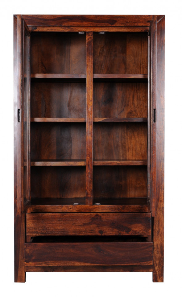 Podwójna nowoczesna witryna z drewna PU-24-100-Kolekcja Pure