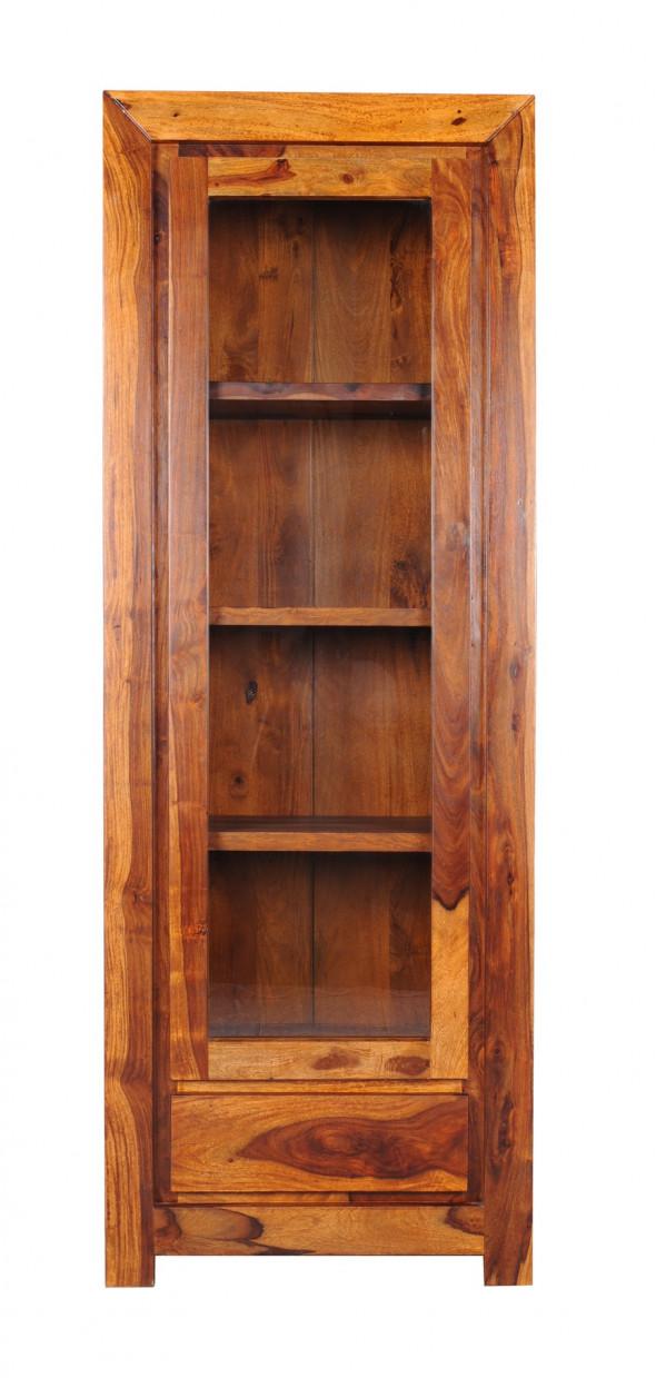 Pojedyncza nowoczesna witryna z drewna PU-02 -Kolekcja Pure