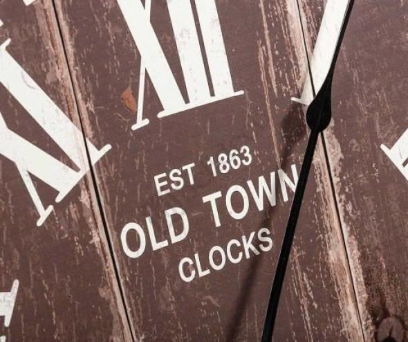 Retro Zegar Old Town 2  -Kolekcja Belldeco