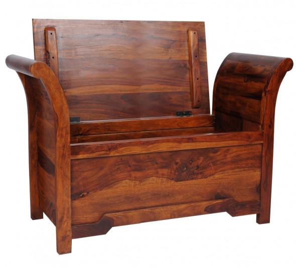 Skrzynia z litego drewna COL-117-120 cm   -Kolekcja Colonial