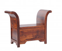 Skrzynia z litego drewna COL-117-80 cm   -Kolekcja Colonial