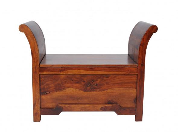 Skrzynia z litego drewna COL-117-90 cm   -Kolekcja Colonial