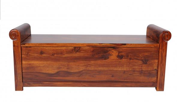 Skrzynia z litego drewna COL-118-125 cm  -Kolekcja Colonial
