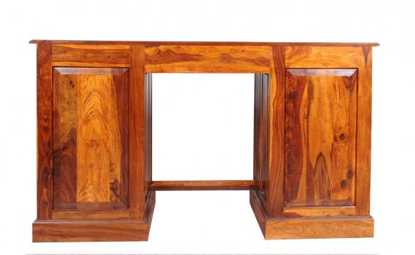 Stylowe biurko drewniane MET-22/140 -Kolekcja Metalwork