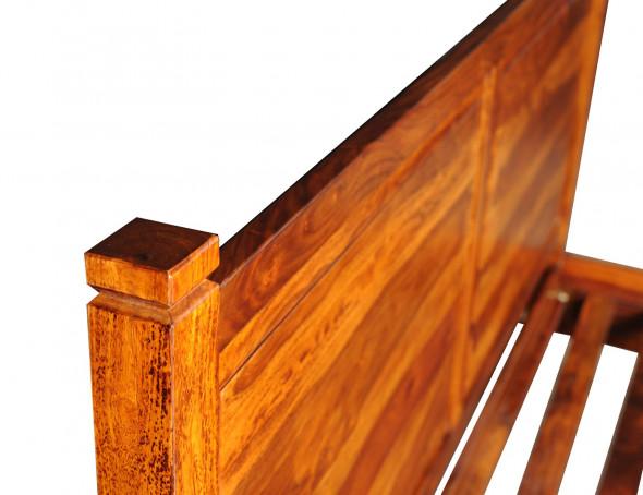 Stylowe łóżko z litego drewna COL-24 - Kolekcja COLONIAL