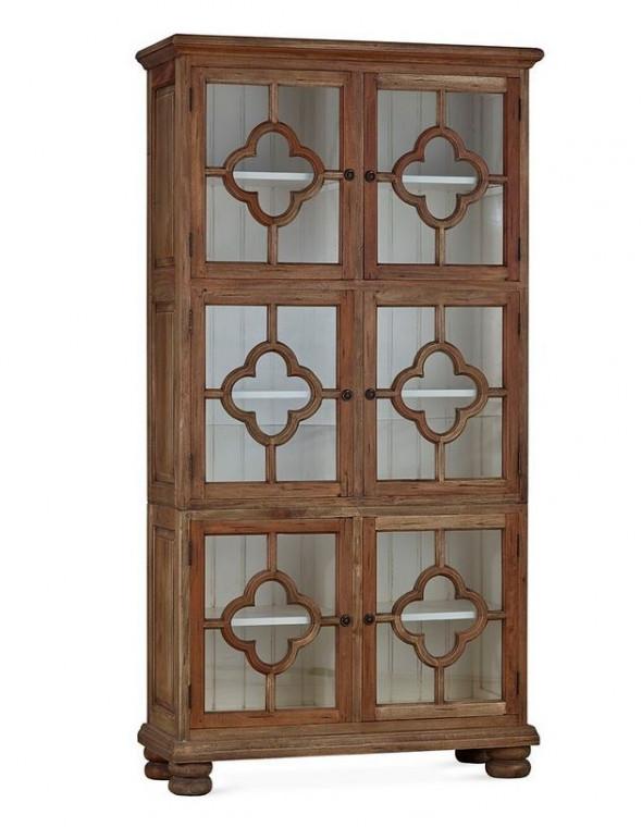 Witryna z litego drewna mahoniowego  Dalston 76102  -Kolekcja Bramble