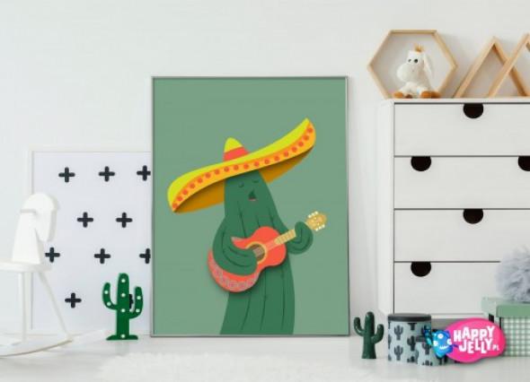 "Plakat ""Meksykański Kaktus"""