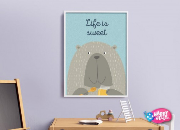 """Plakat """"Słodki Niedźwiadek"""""""