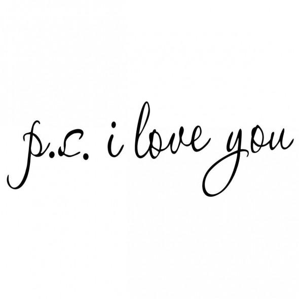 Naklejka na ścianę PS I Love You WS-0046