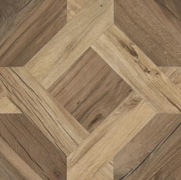 Gres dwrocowy kwadrat rustykalny sęki drewno parkiet brąz Flaviker Nordik Wood PF60005047 Mansion Gold Brown 60x60