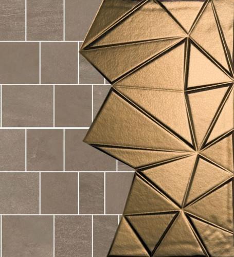 Mozaika 3D kamień brąz lustro romb Gardenia Orchidea Concept Stone Moz. Mix Bruno Medio 40 × 40