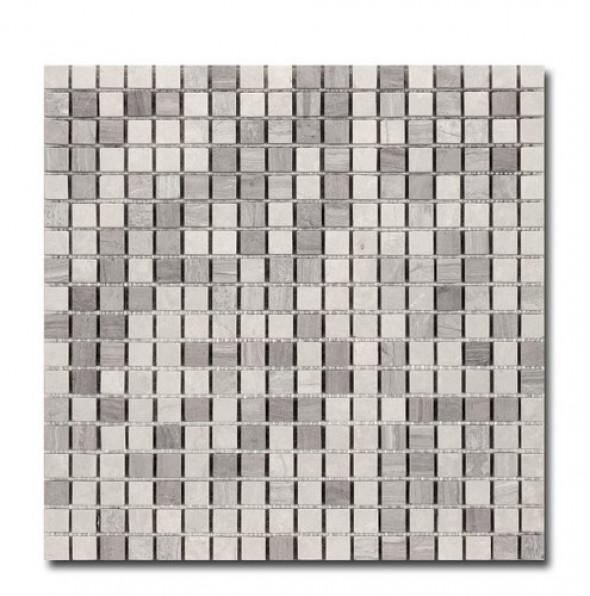Mozaika beż trawertyn El Casa Travertyn Grey 30,5x30,5 cm