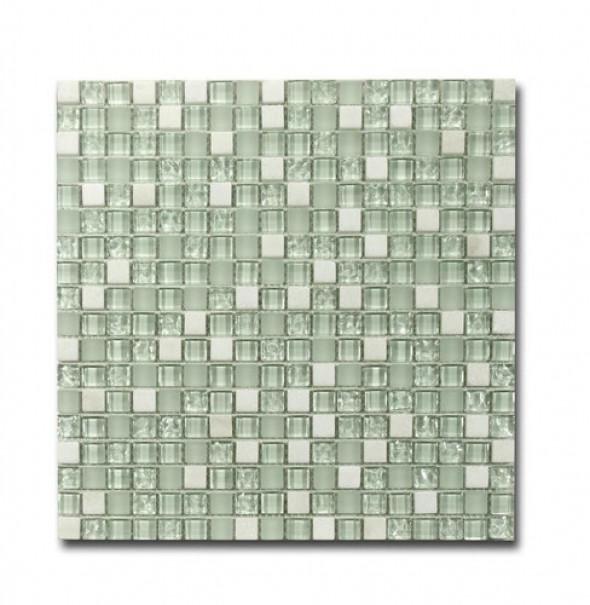 Mozaika biała kamień szkło El Casa Arctic White 30,5x30,5 cm