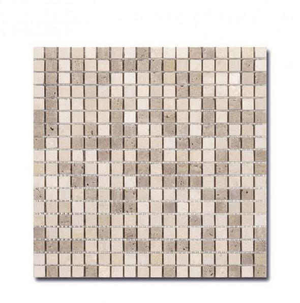Mozaika kamień beż El Casa Travertyn Beige 30,5x30,5 cm