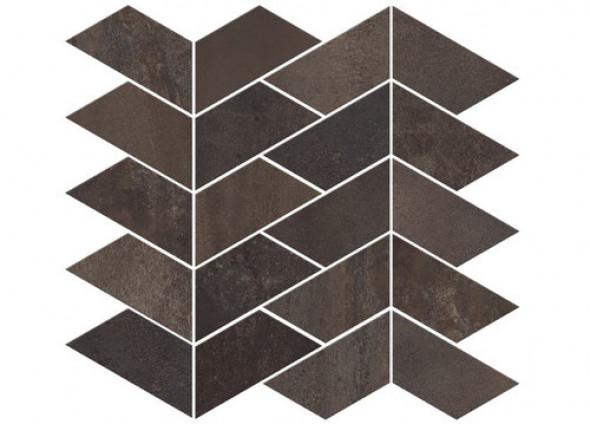 Mozaika podłogowa ścienna metal parkiet jodła grafit ABK Interno 9 Mos. Versus Dark Ret 29x30