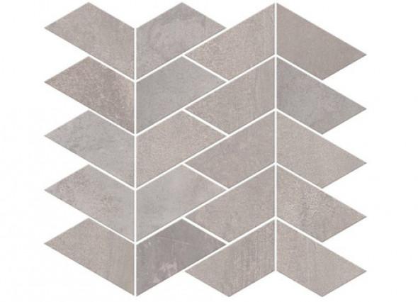 Mozaika podłogowa ścienna metal parkiet jodła szara ABK Interno 9 Mos. Versus Silver R 29x30