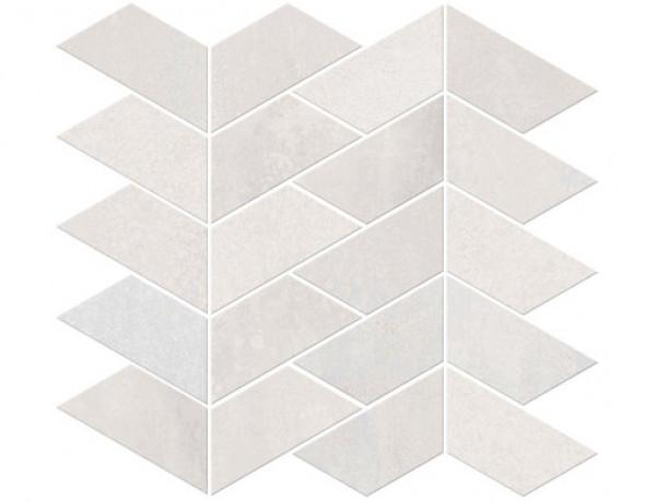 Mozaika podłogowa ścienna metal parkiet jodła szara ABK Interno 9 Mos.Versus Pearl Ret 29x30