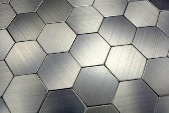 Mozaika samoprzylepna heksagonalna metal platina Metropol MM 1049 28 x 29