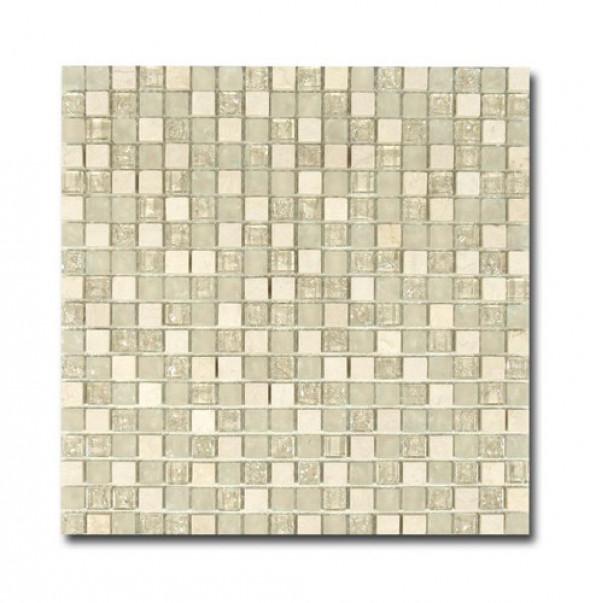 Mozaika szkło kamień szary beż El Casa Ice Cream 30,5x30,5 cm