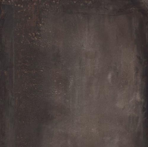 Płytki podłogowe cienkie duże włoskie rdzawe brąz ABK Interno 9 Dark Rett 120x120