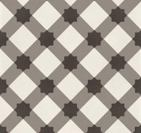 Płytki podłogowe wzór kratka beż ekry romby kwiaty Marazzi D segni decor Tapeto Micro MOUG 20x20 ag