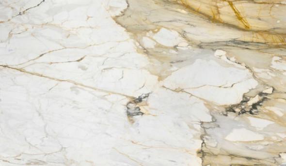 Spiek kwarcowy, blat kuchenny marmur biały ze złotą żyłą Marazzi Grande Marble Look Calacatta Vena Vecchia lux M7GF 160x320 6mm