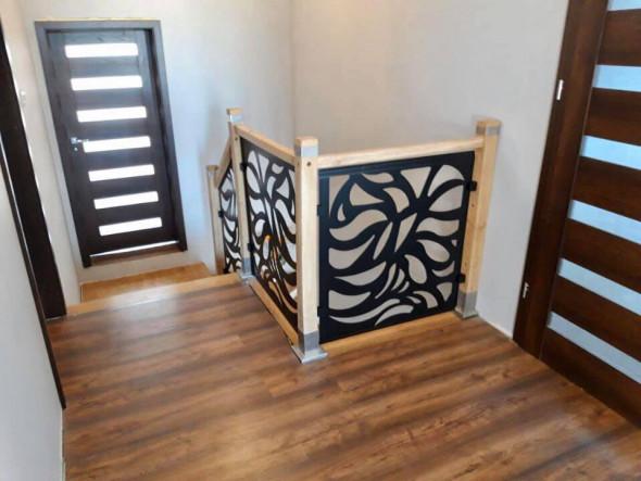 "Balustrada ""Ryby"" metal + drewno"