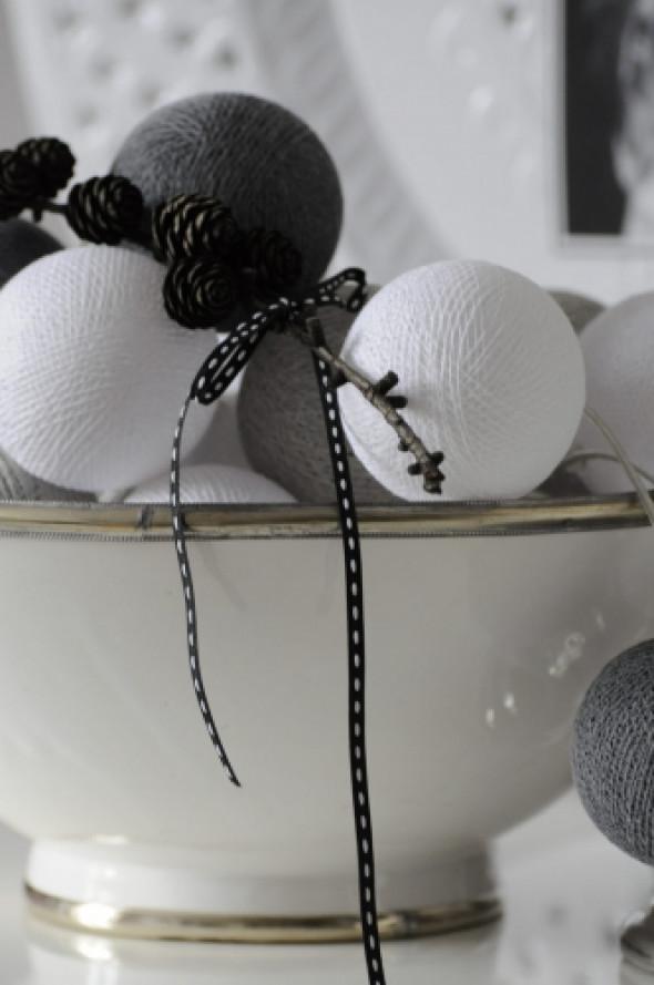 Cotton Ball Lights kule białe-szare ANTRA