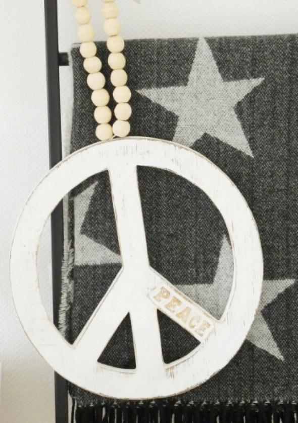 Dekoracja drewniana zawieszka PEACE