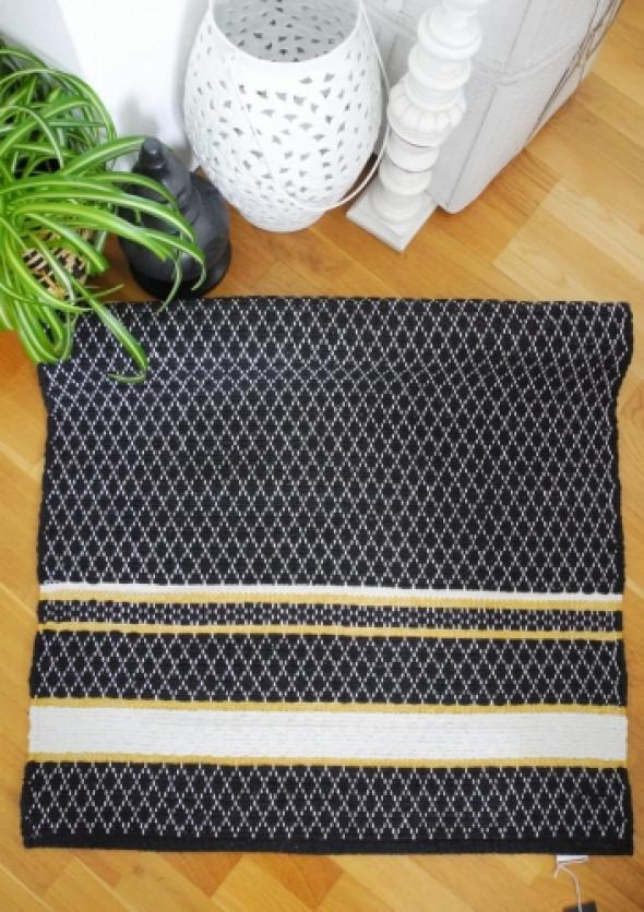 Dywan bawełniany czarny WITT (70x140cm)