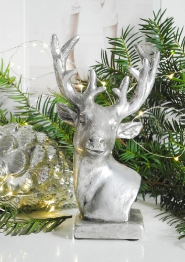Figurka dekoracyjna DEER SILVER