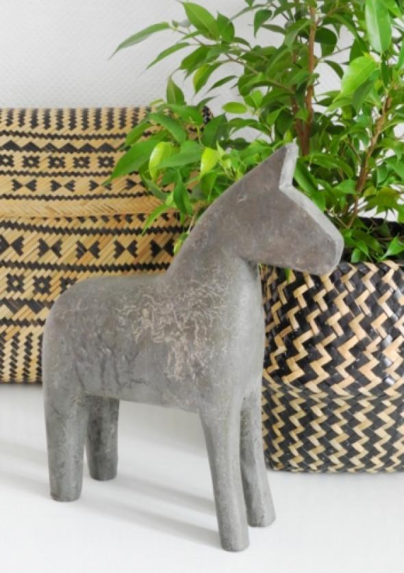 Figurka dekoracyjna GREY HORSE