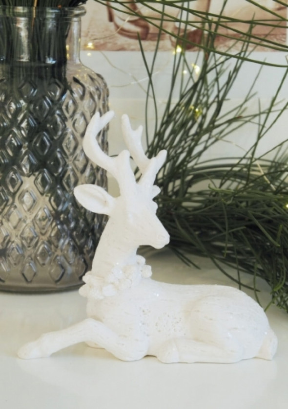 Figurka dekoracyjna WHITE DEER