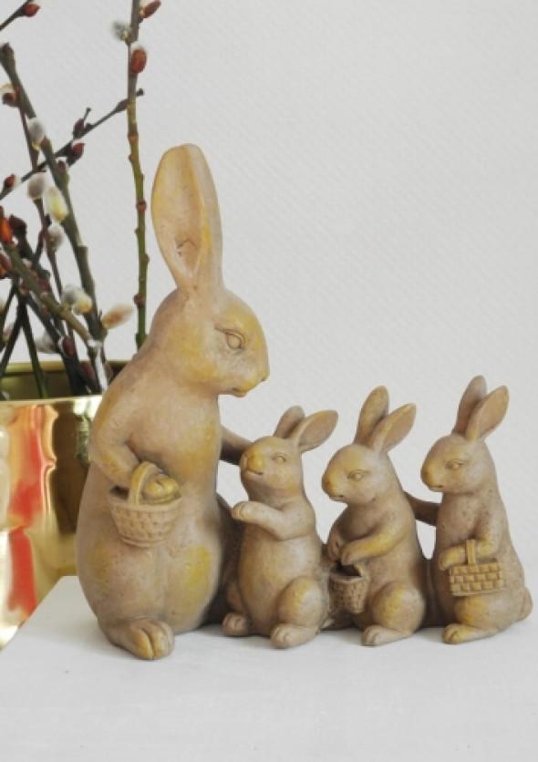 Figurka dekoracyjna zajączki FAMILY
