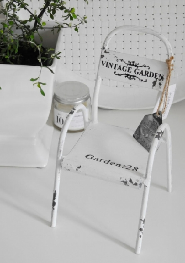 Krzesełko miniaturka VINTAGE GARDEN