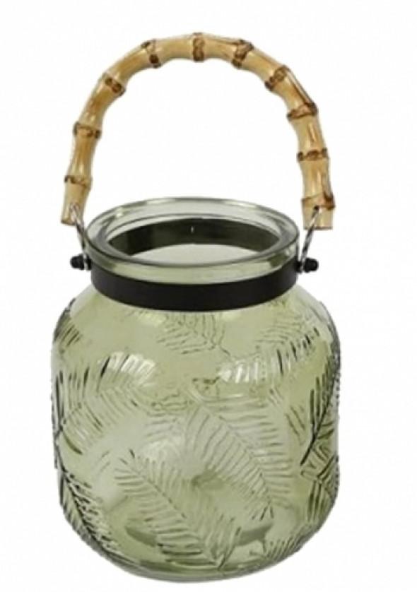 Lampion z zielonego szkła NATURE