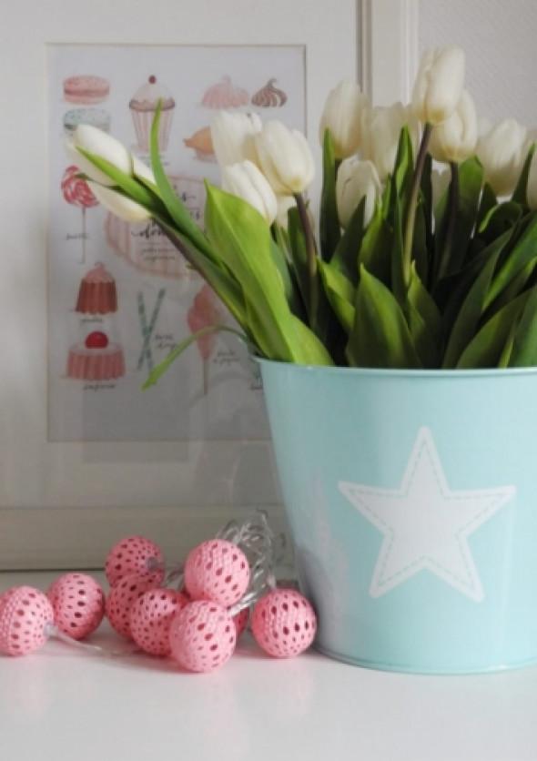 Lampki ledowe w kolorze różowym PINK
