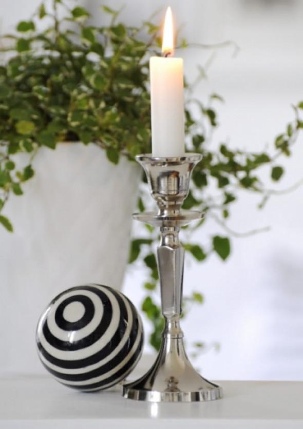Świecznik niklowany PLATER 16 cm