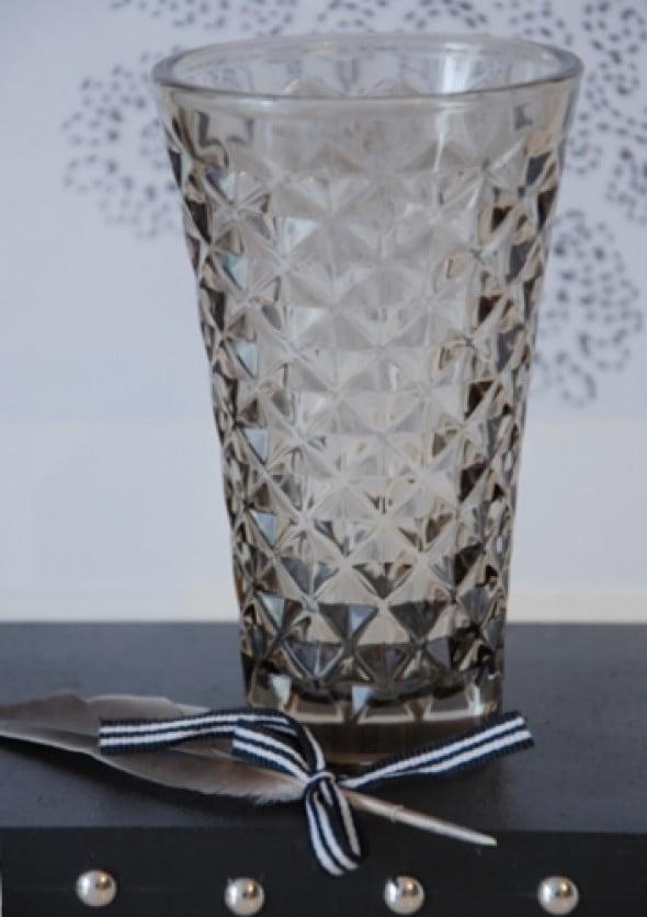 Świecznik z przydymionego szkła Tine K Home /M