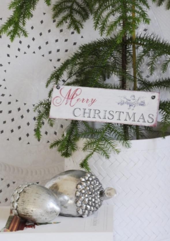 Szyld mały świąteczny MERRY CHRISTMAS