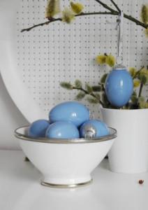 Zawieszka ceramiczne jajko w kolorze niebieskim BLUE EGG