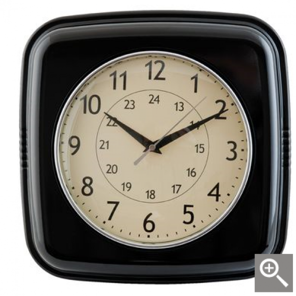 Zegar ścienny czarny BLACK