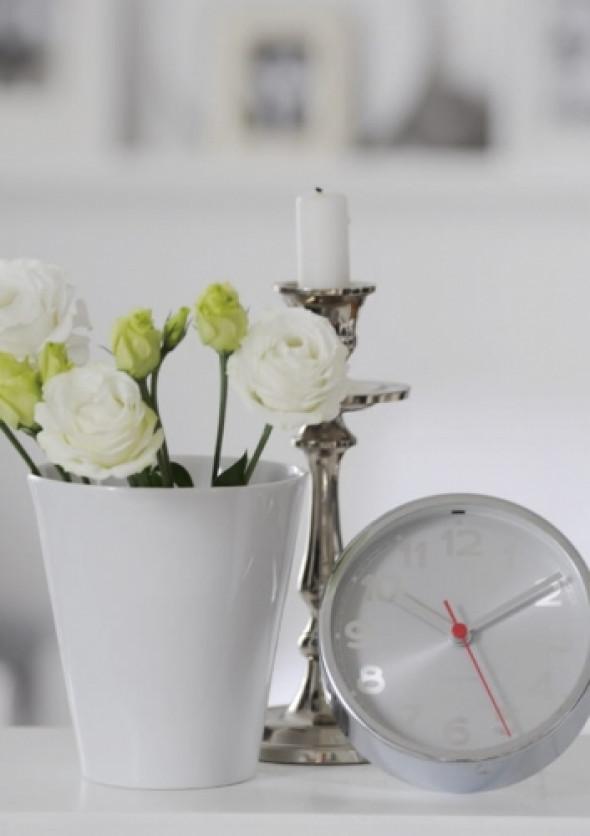 Zegar z alarmem KARLSSON - MINIMAL GRAY