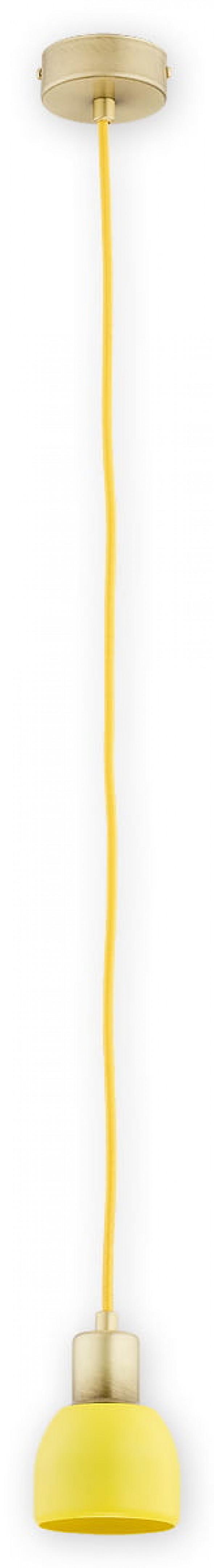Piu zwis 1 pł. (na 1 przewód) / patyna + żółty